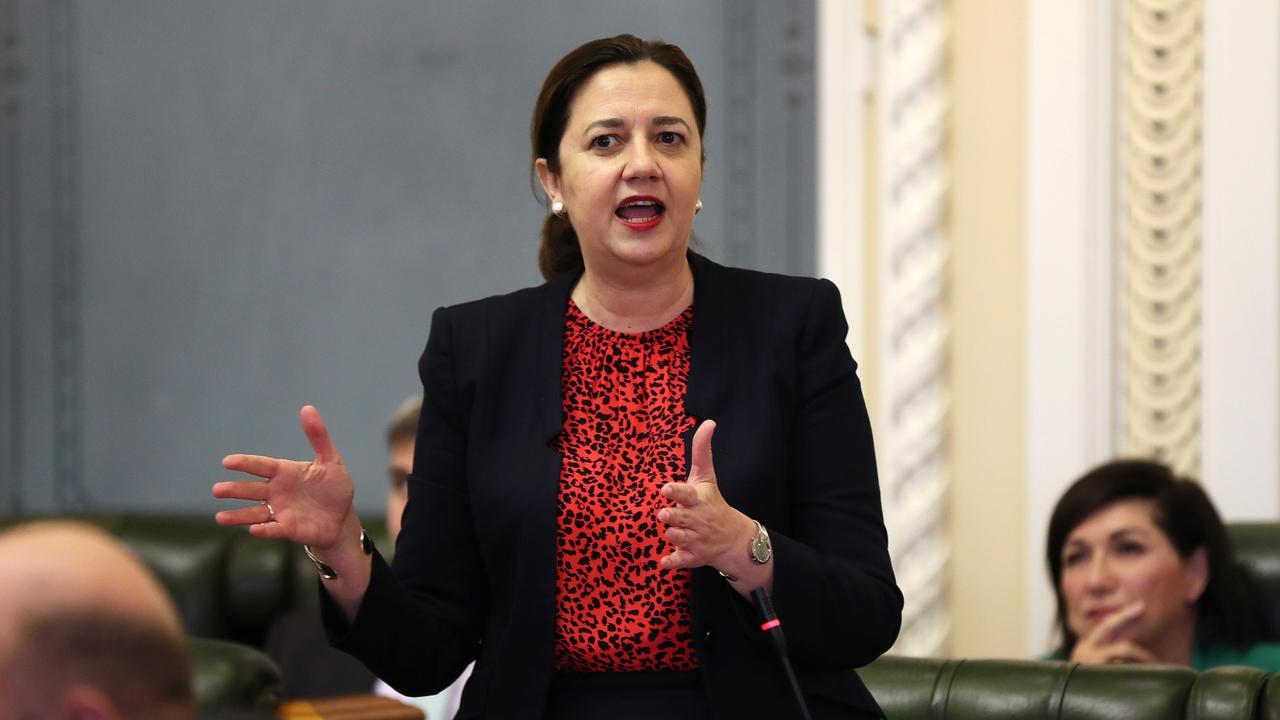 Premier Annastacia Palaszczuk says Tony Fitzgerald set up a system that has continued exposing corruption for 30 years. Pics Tara Croser.