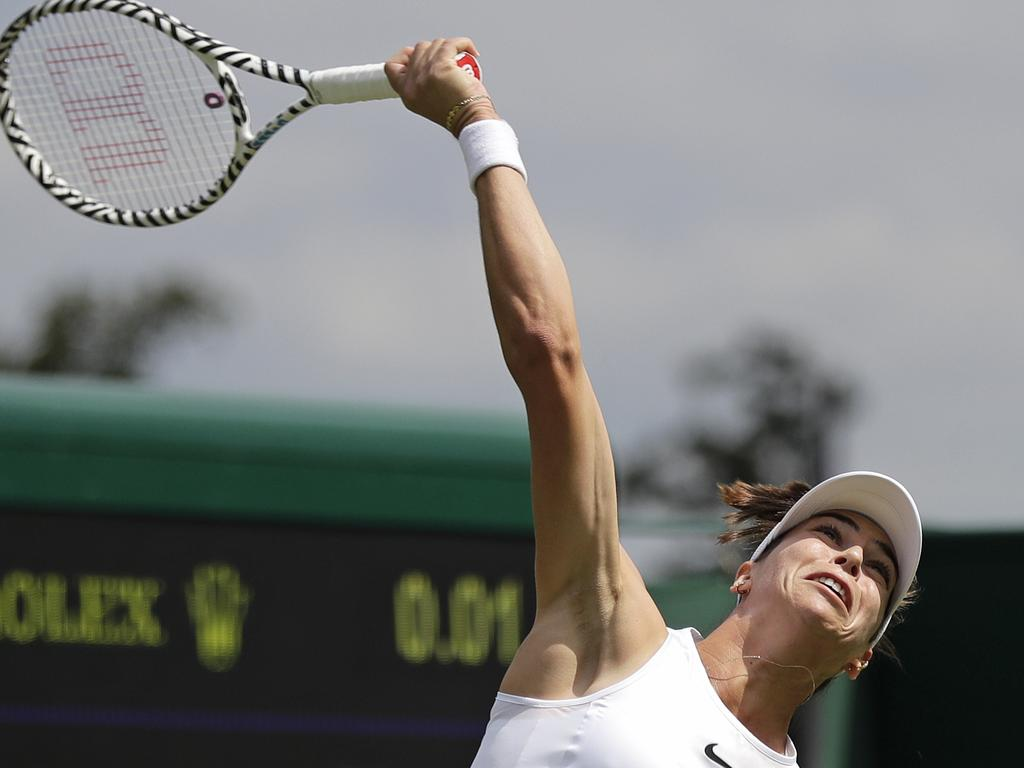 Australia's Ajla Tomljanovic had the serving yips during her match against Victoria Azarenka.
