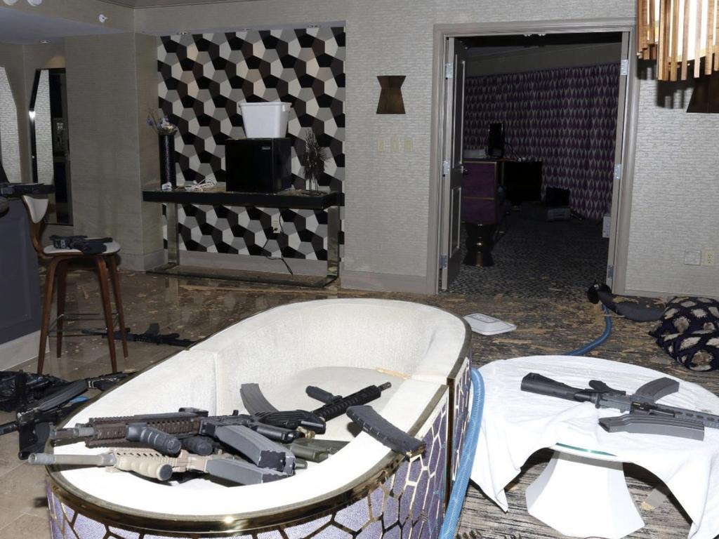 Paddock's room was filled with rifles. Picture: Las Vegas Metropolitan Police Department via AP