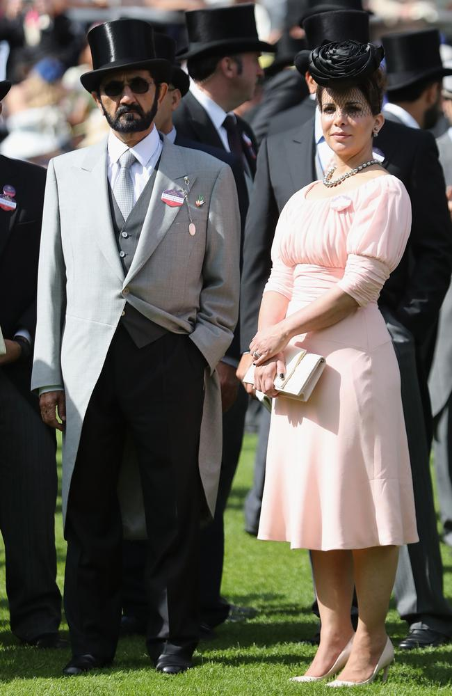 Sheikh Mohammed Bin Rashid Al Maktoum, and Princess Haya bint Al Hussein at Royal Ascot in June 2016.