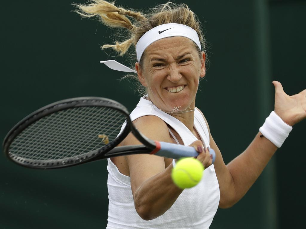 Former world number one Victoria Azarenka beat Australia's Ajla Tomljanovic. Picture: AP Photo/Ben Curtis)
