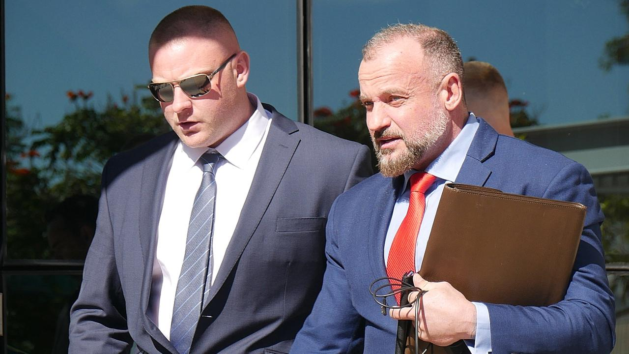 The ex-bikie has denied accusations of punching the man. Picture: Annie Perets