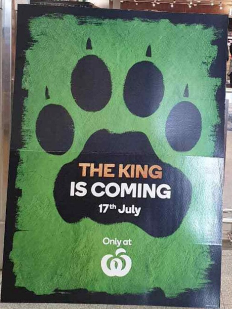 This poster — spotted at a Woolworths in Adelaide — has caused frenzied speculation on social media. Picture: Facebook