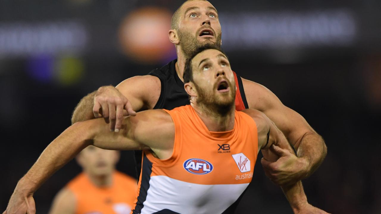 Veteran Giants ruckman Shane Mumford believes he can push his body through another AFL season. Picture: AAP