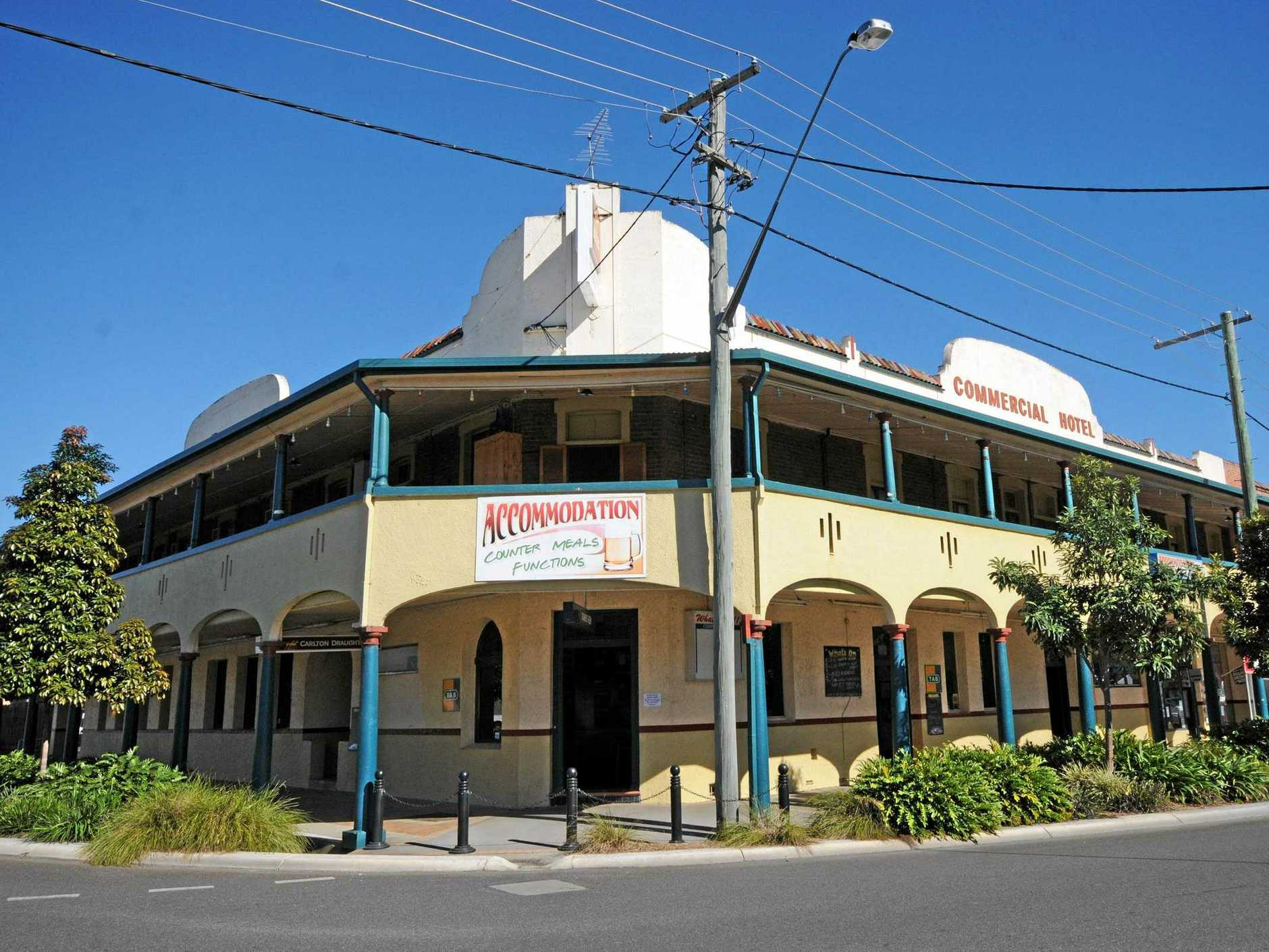 A man was kicked out of the Commercial Hotel in Casino before claiming he'd left a bomb at the pub.