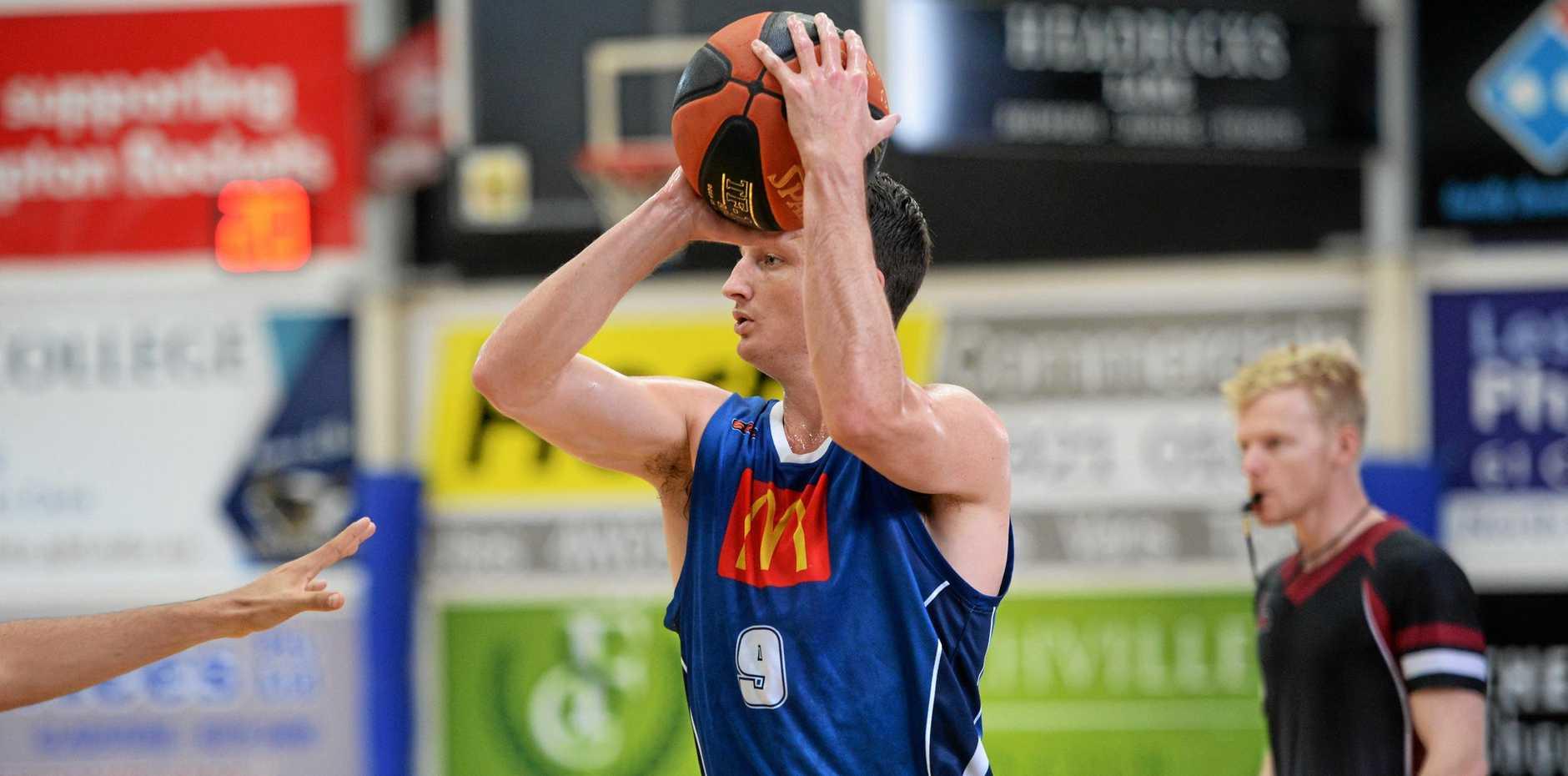 Rockets' Sean O'Mara. Rockets will head away for a triple header, beginning in Cairns tonight.