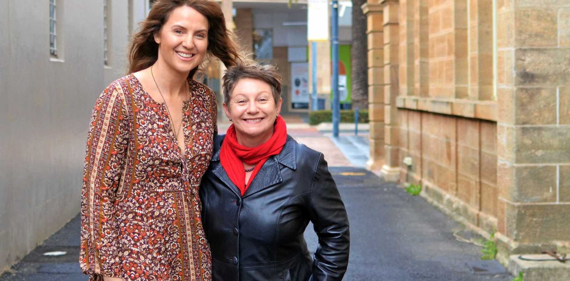 CALLING ALL CREATIVES: Storm Lahiff and Julia Keogh are calling on residents of the Southern Downs to step up and help shape their community.
