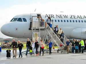 Kiwis fly in to airport for a touch of sunshine