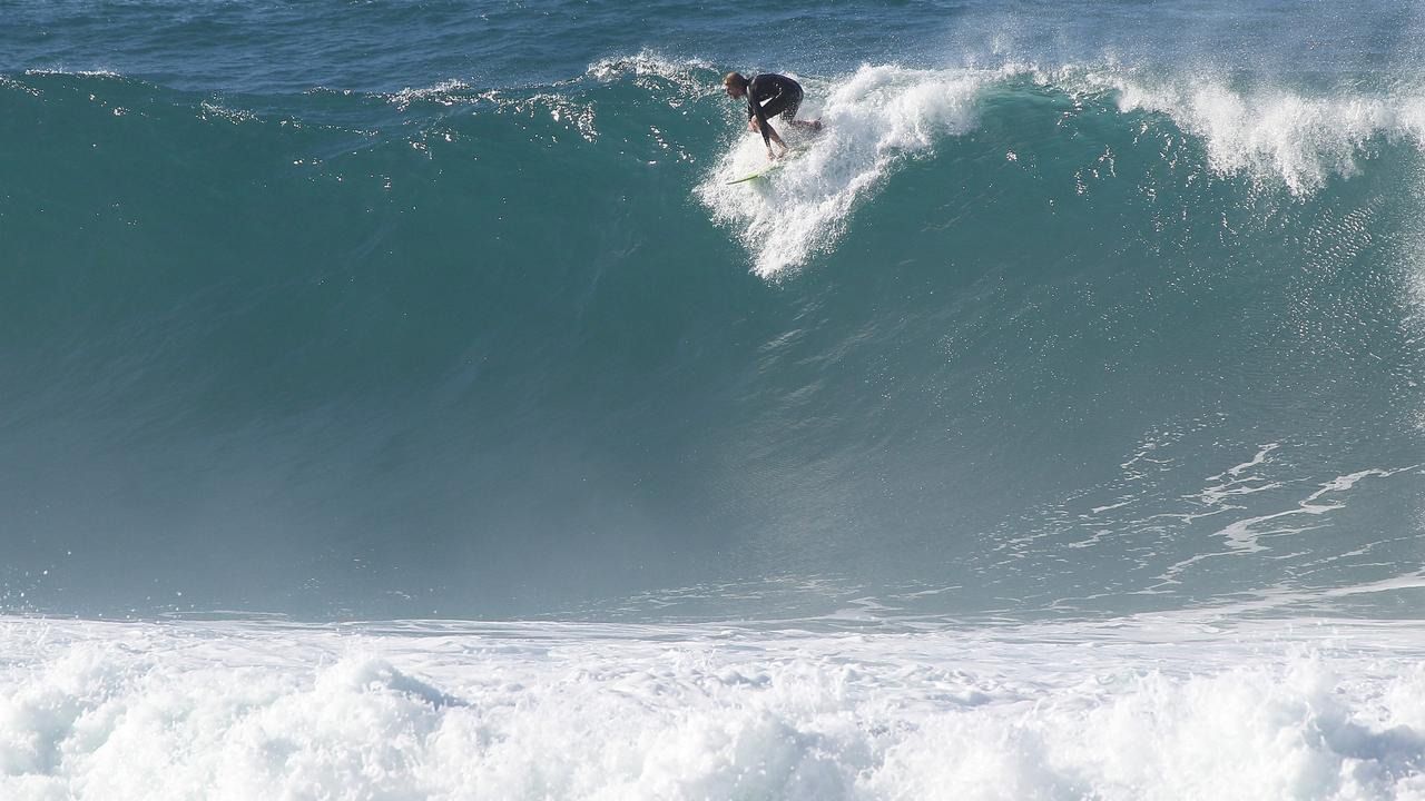 Strong surf expected to lash SEQ coast on Friday. Pic Mike Batterham