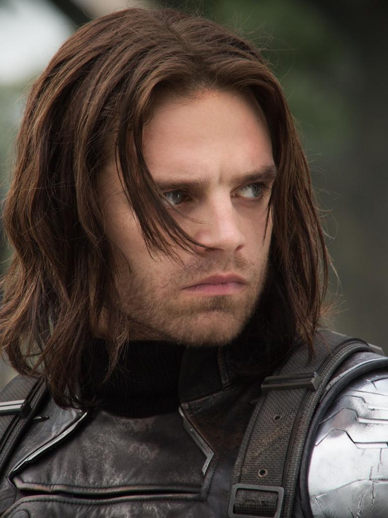 Sebastian Stan as his Marvel character, Bucky Barnes.