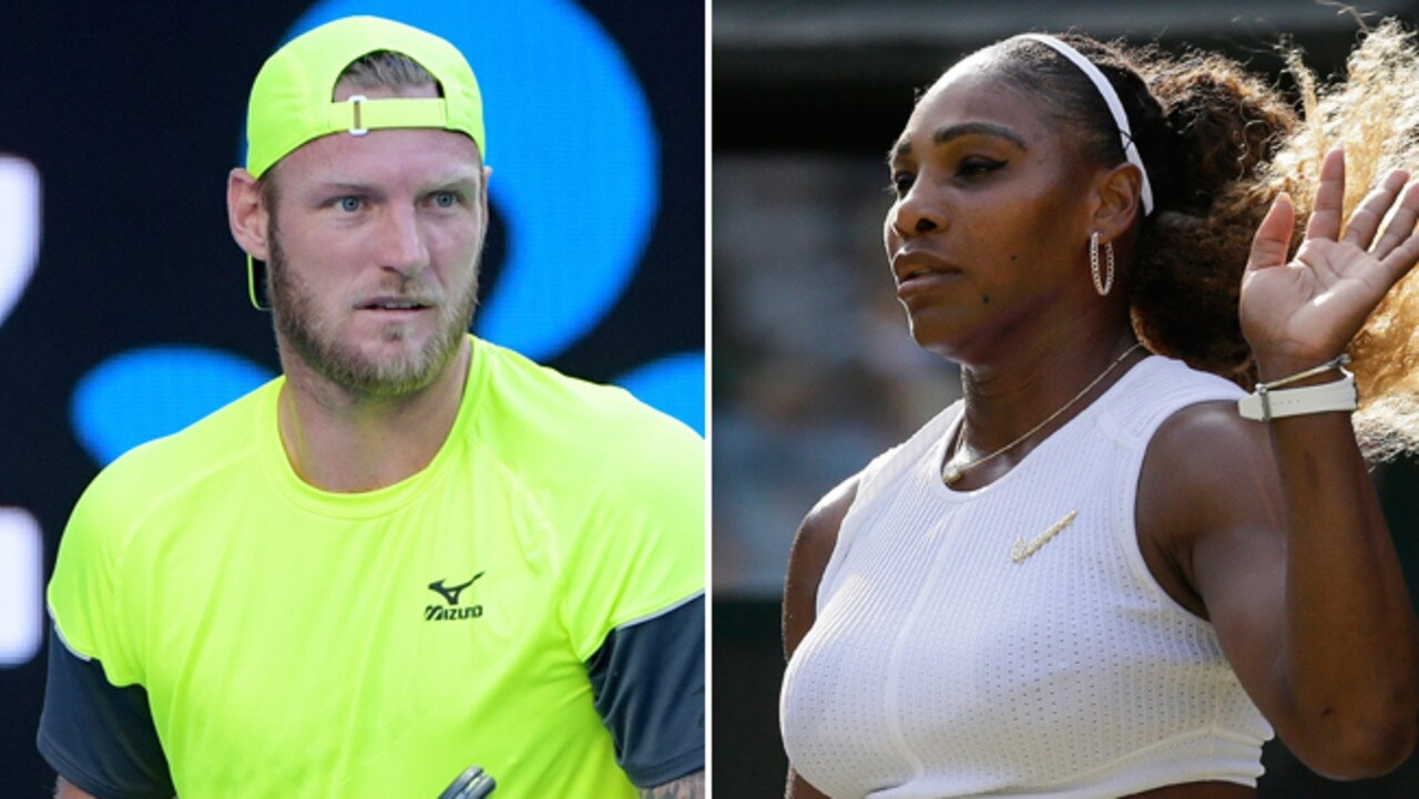 Serena Williams has hit back at Sam Groth's comments.