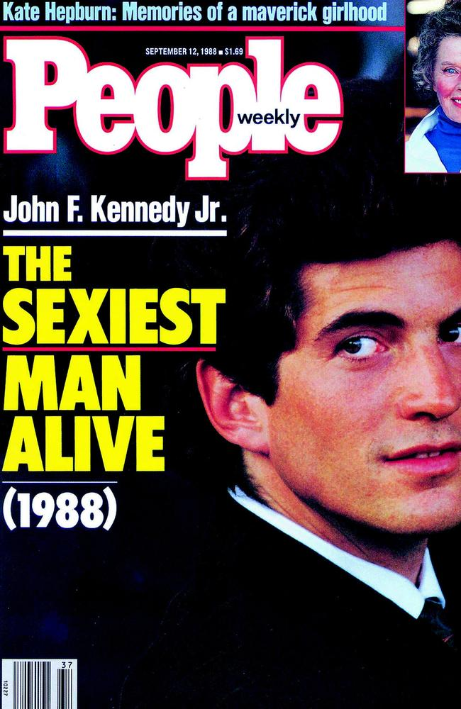 "Cover of People magazine's 1988 cover proclaiming John F Kennedy Jr ""The Sexiest Man Alive"