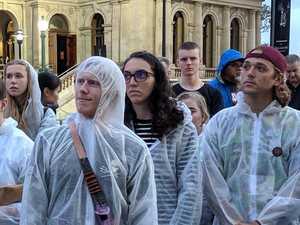 Anti-Adani protesters shout 'screw you Palaszczuk'