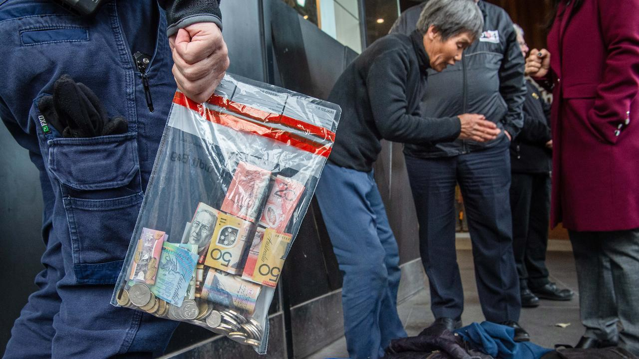 Police seized hundreds of dollars during the operation. Picture: Jason Edwards