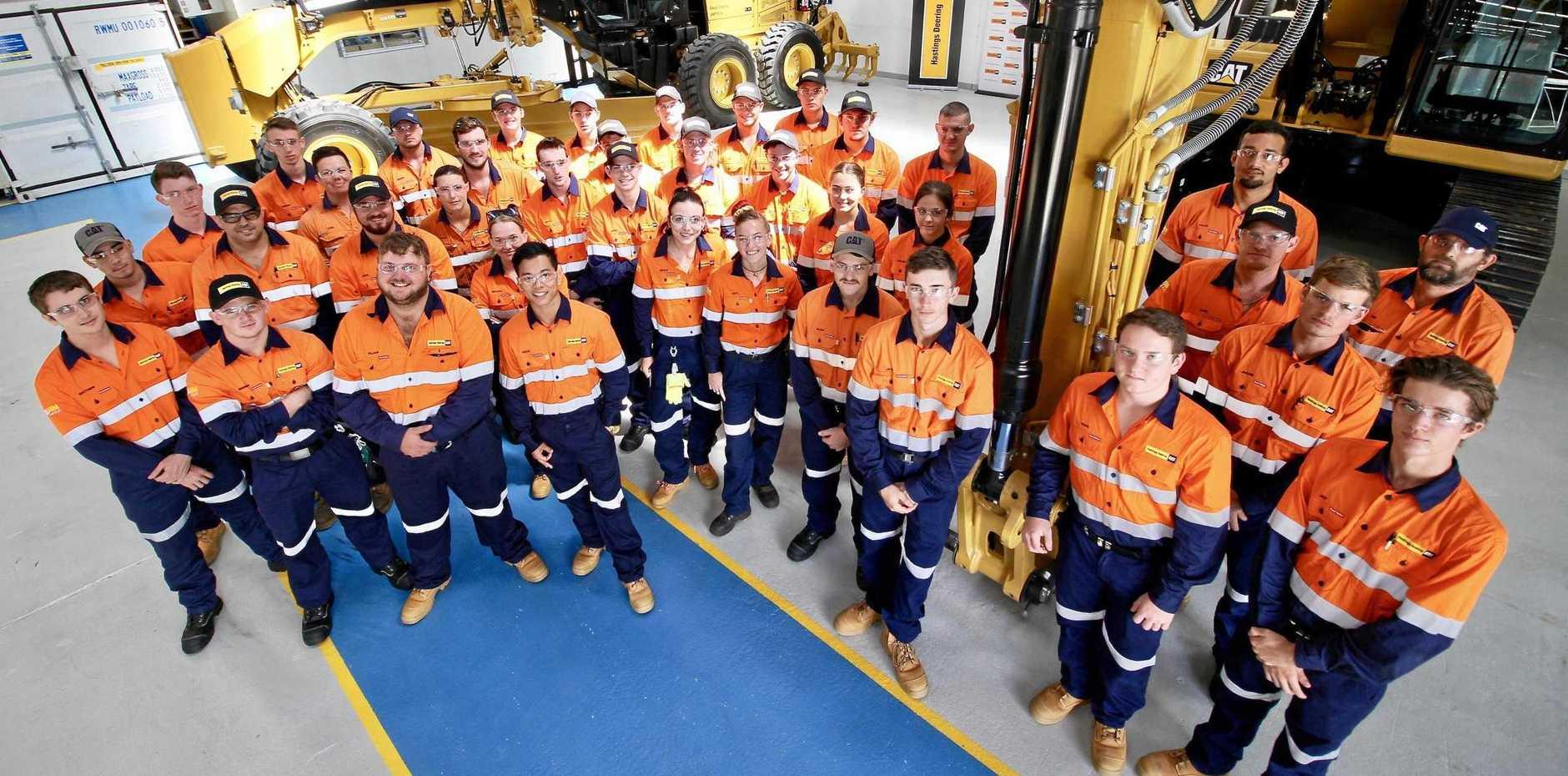 DRIVE: Mackay Hastings Deering apprentices.