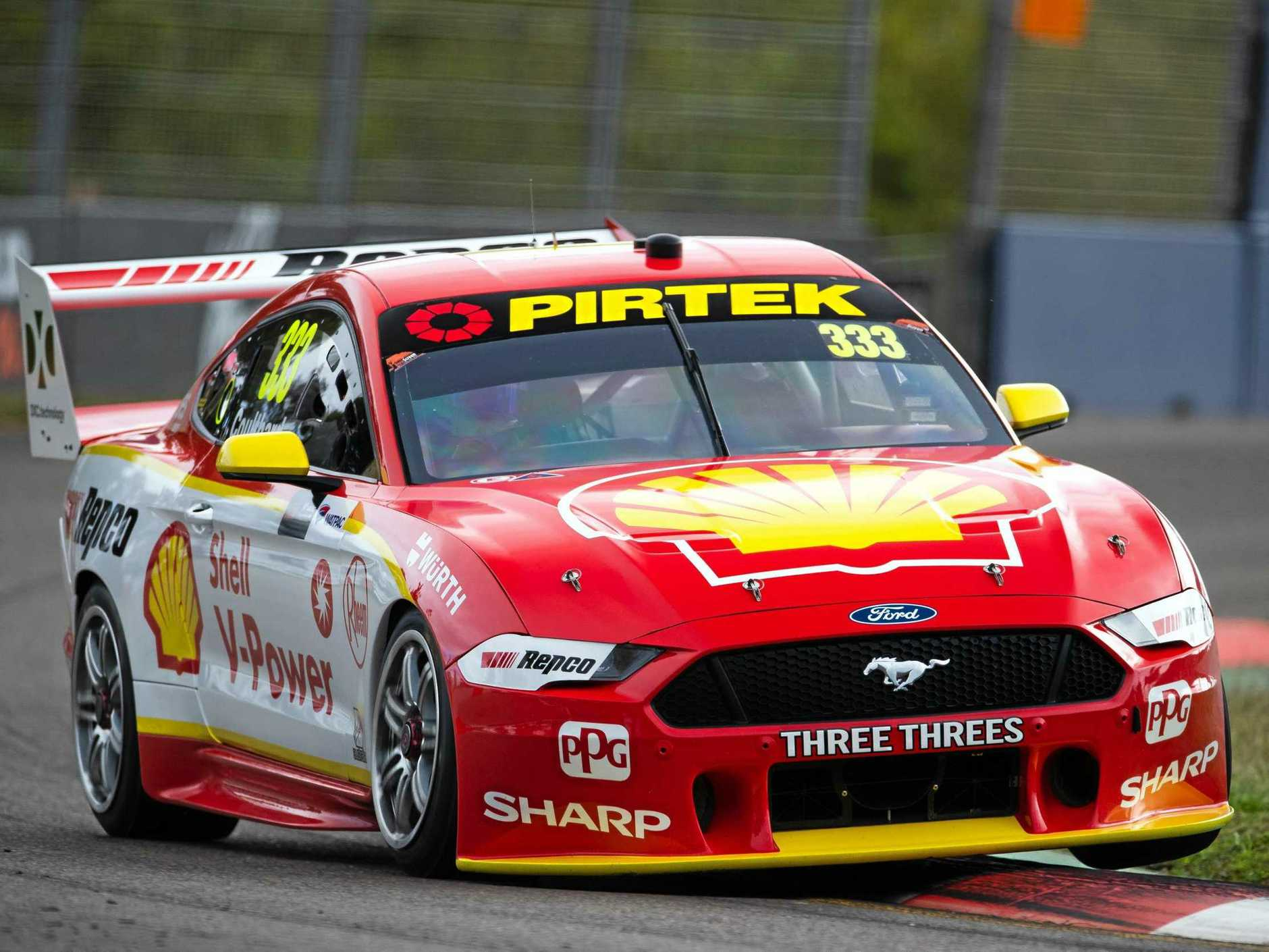 Fabian Coulthard has shaded Supercars leader Scott McLaughin in final practice in Townsville. Picture: Daniel Kalisz/Getty Images