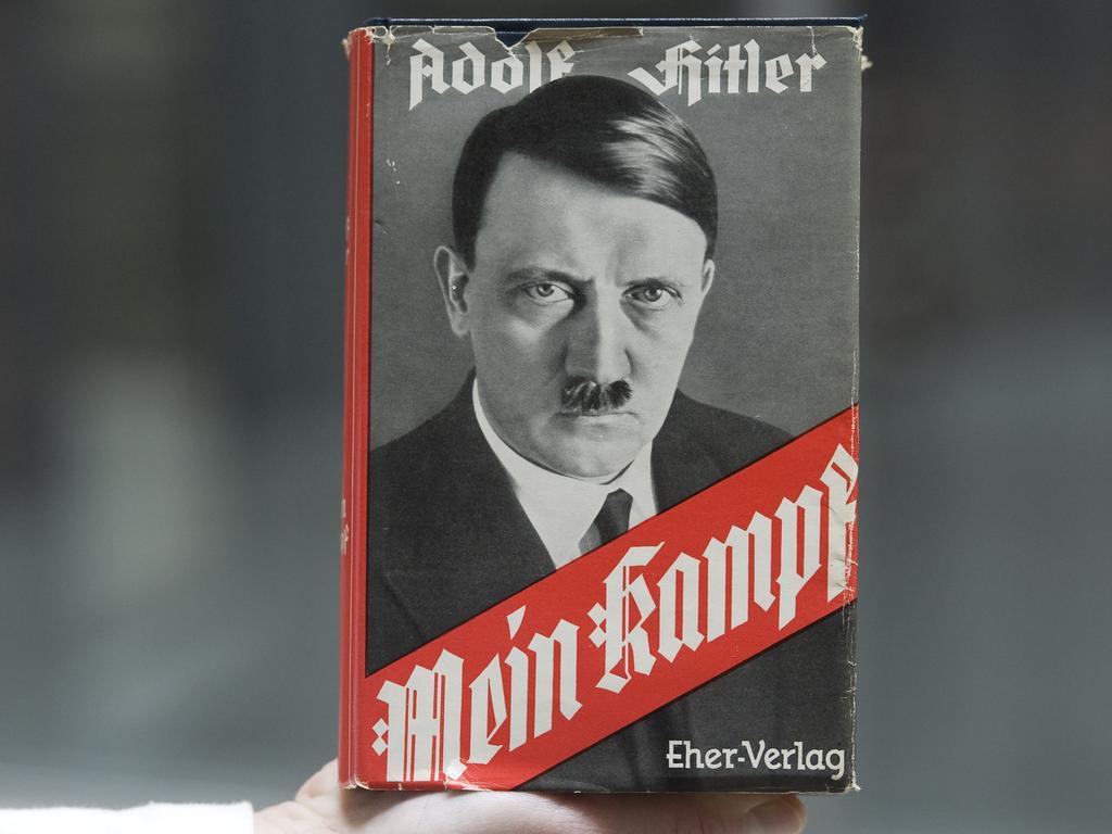 Adolf Hitler's infamous memoir Mein Kampf. Picture: Dapd, Lennart Preiss