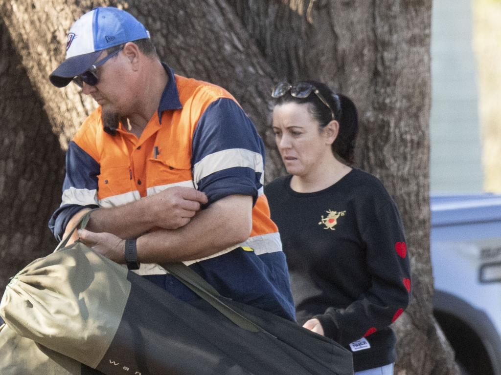 Natasha Ryan, now called Tash Black, with her husband Scott Black at home in central Queensland. Picture: Media Mode