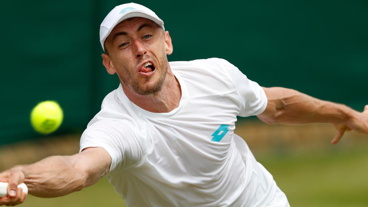 John Millman has been bundled out of Wimbledon.