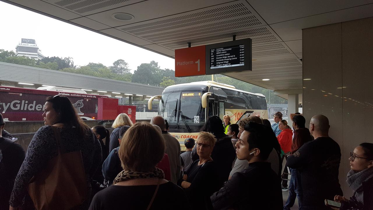 Commuters are experiencing 1.5 hour delays due to track closures to the Gold Coast. Picture: Supplied