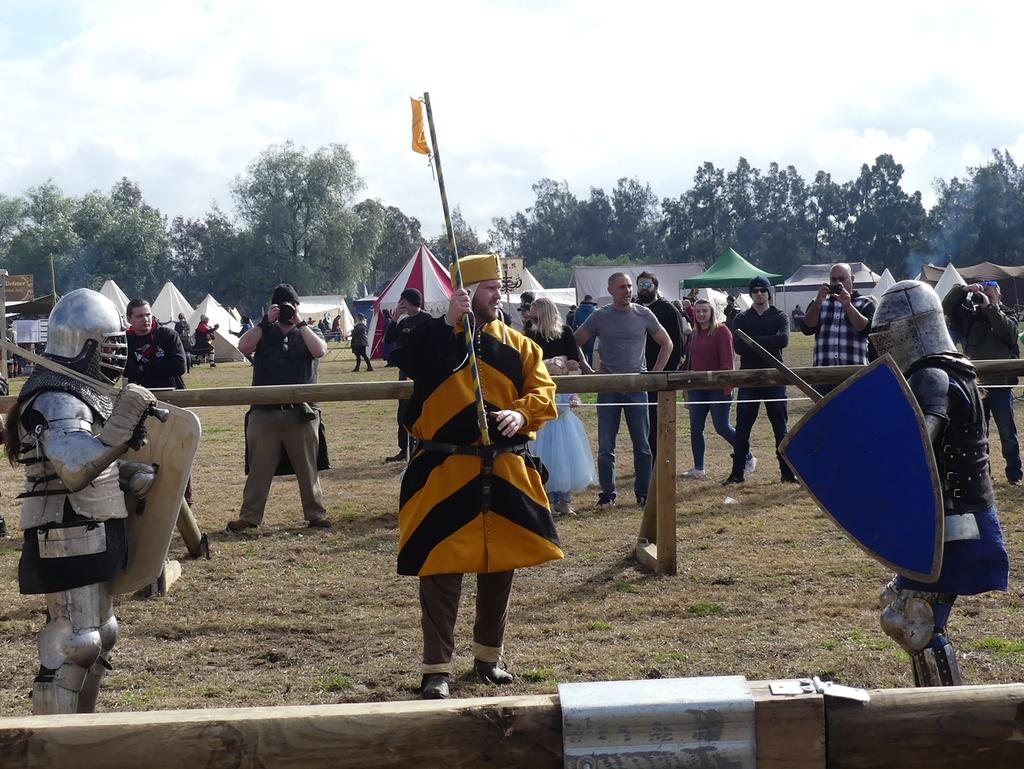 One of the medieval battles at the Hawkesbury Showground. Picture: CareFlight