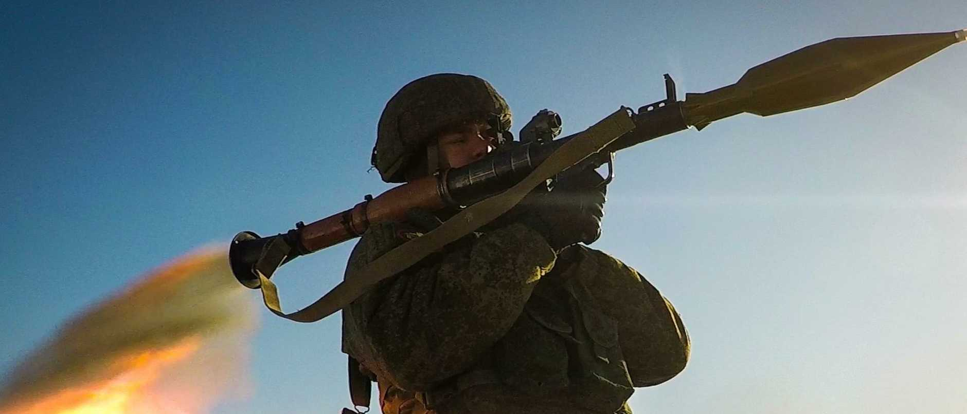 Naval infantry unit in military training in Russia's Far East