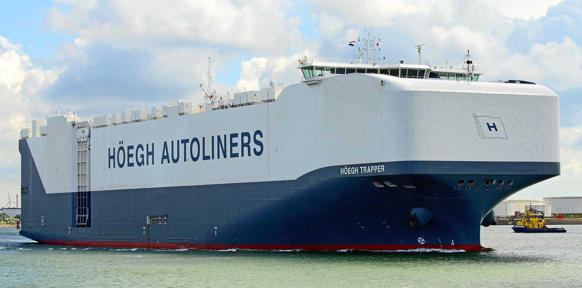 SPECIAL ARRIVAL: RORO vessel the Hoegh Trapper will visit the region today.