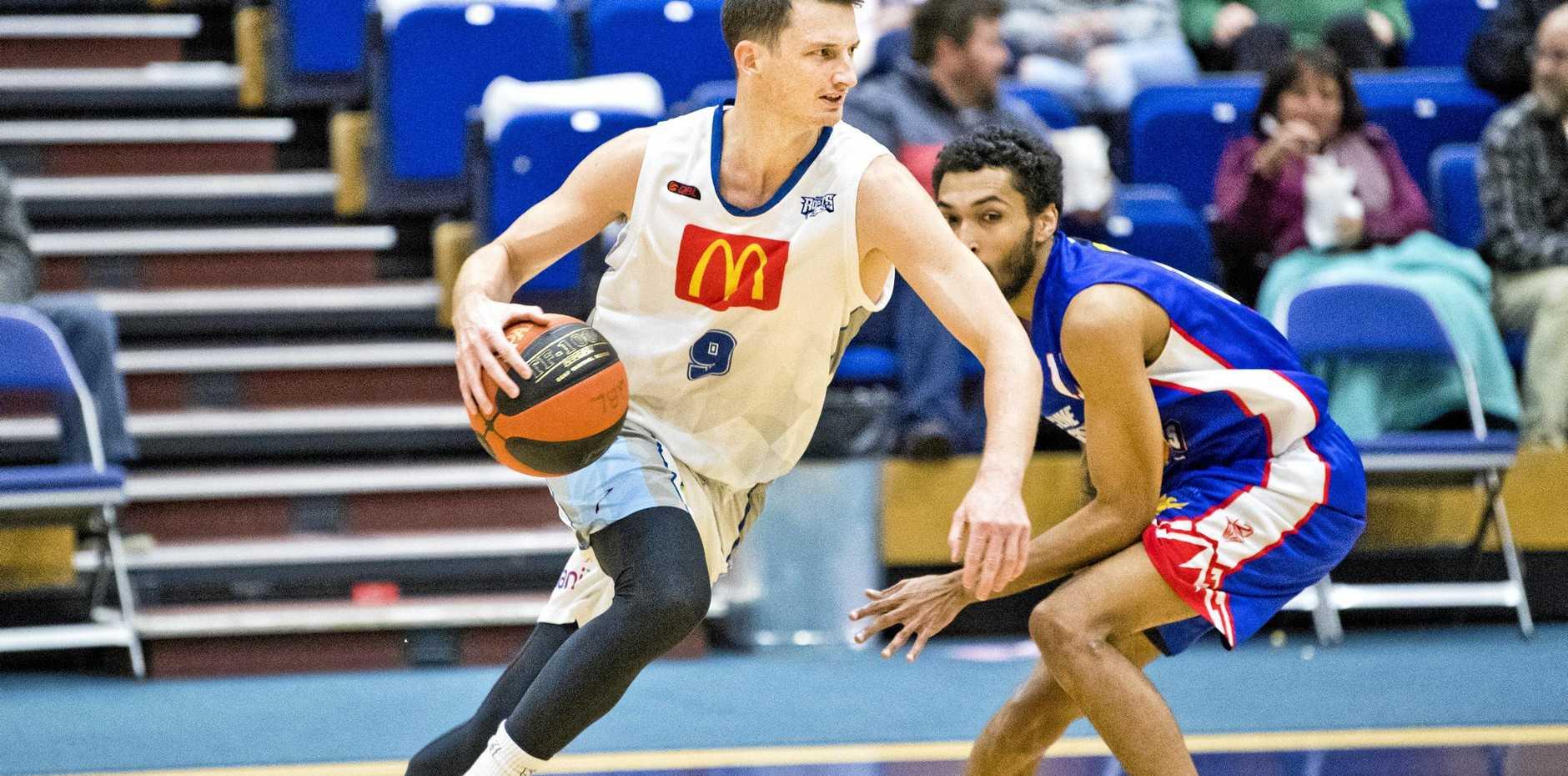 Shaun Bruce, Rockets. QBL, Toowoomba Mountaineers vs Rockhampton Rockets. Saturday, 6th Jul, 2019.