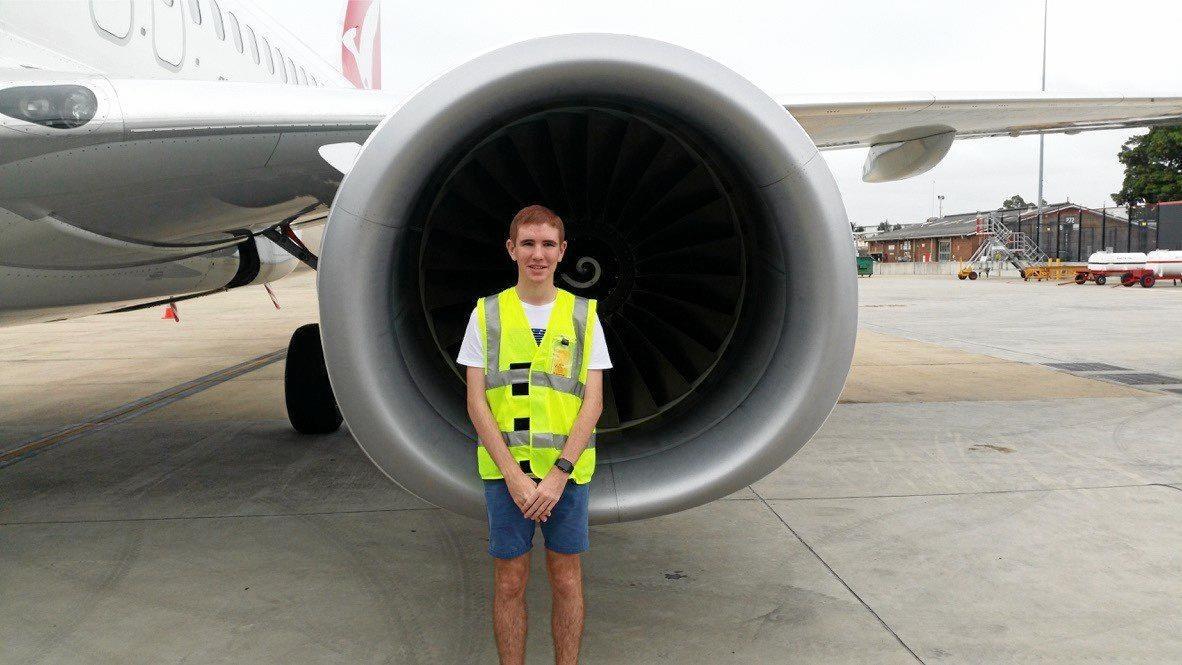 ASPIRING PILOT: Mackay's Brock Thomas.