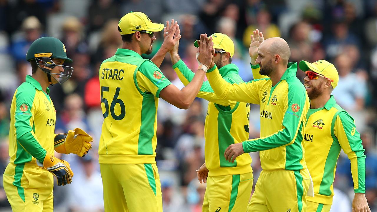 Nathan Lyon (R) has cemented his spot in Australia's line-up. Picture: Getty