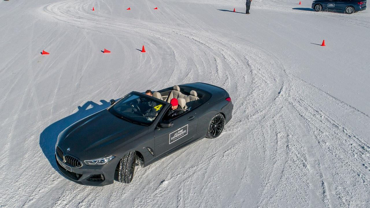 Drivers can hone their skills on the slippery track.
