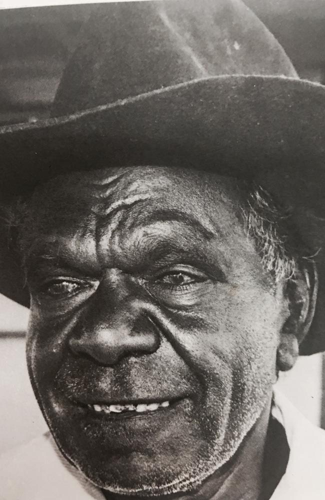 Waanyi elder and station ringer Stanley Doomadgee saw the worst and the best on outback stations, including Lawn Hill and told his grandson Alec. Picture: John Ande.