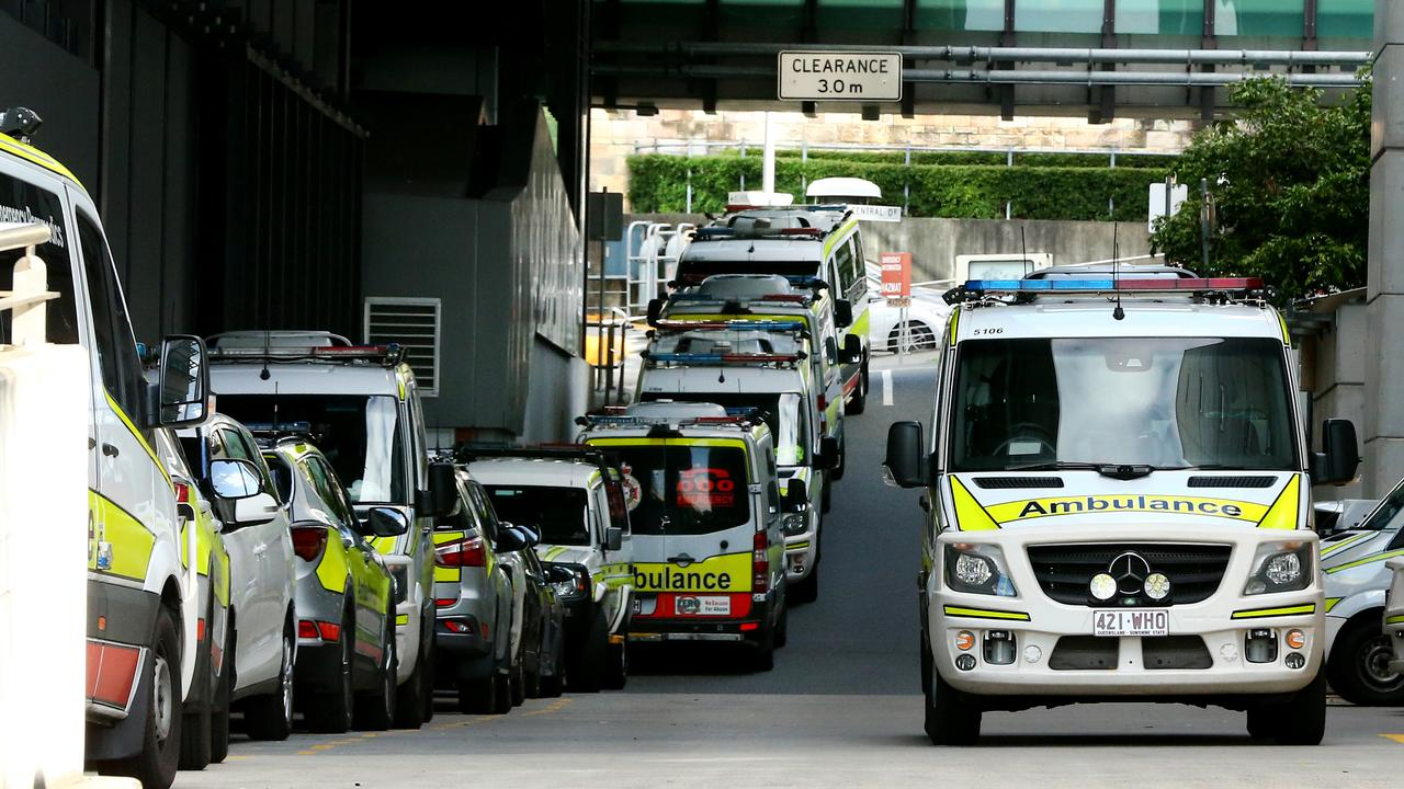 Ramping at the ambulance bay area of the Royal Brisbane Hospital, Monday, July 1, 2019. Picture AAPImage/ David Clark