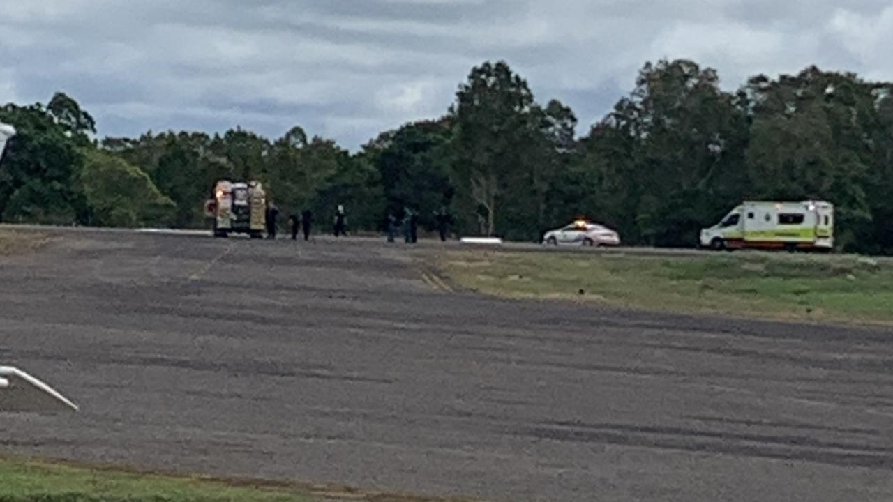 Emergency services are helping with a plane crash at Ingham Airport.