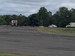 Plane 'flipped' on landing, caught fire
