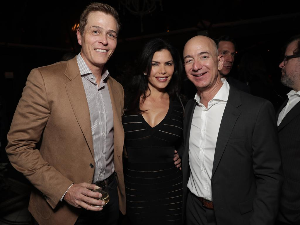 Lauren Sanchez and Amazon CEO Jeff Bezos in 2016. Picture: Getty Images