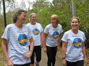 Women support women with mammoth coast trek