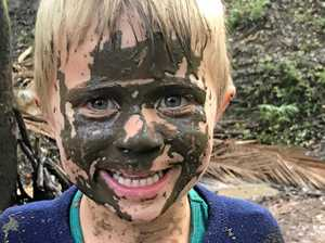 Mud party focuses on green time instead of screen time