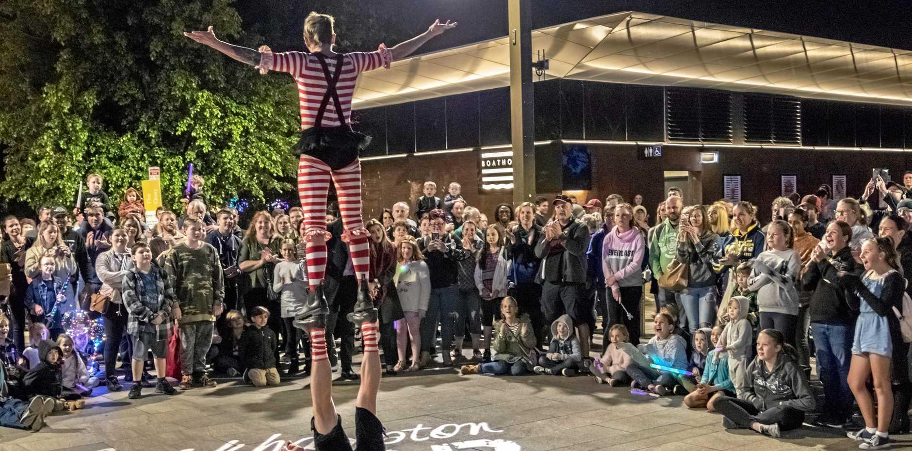 Riverfront entertainment at the Rockhampton River Festival 2018.