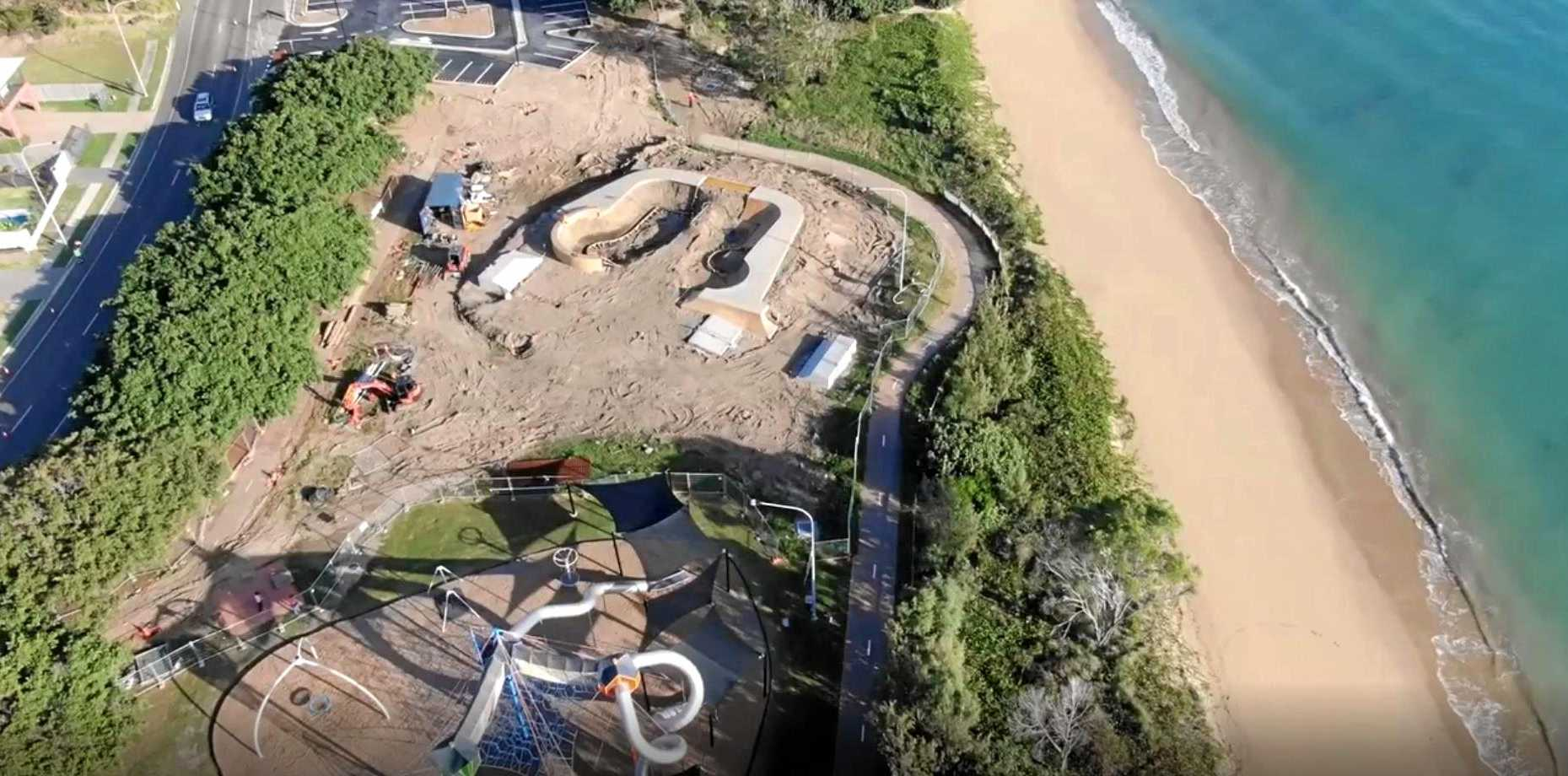 Construction work on the new skate park at the Pialba Youth Precinct is set to finish on September 14.