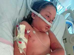 Little warrior's fight for life after rare allergic reaction