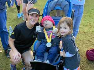 RUNNING FOR HARLOW: Sarah's marathon effort raises thousands