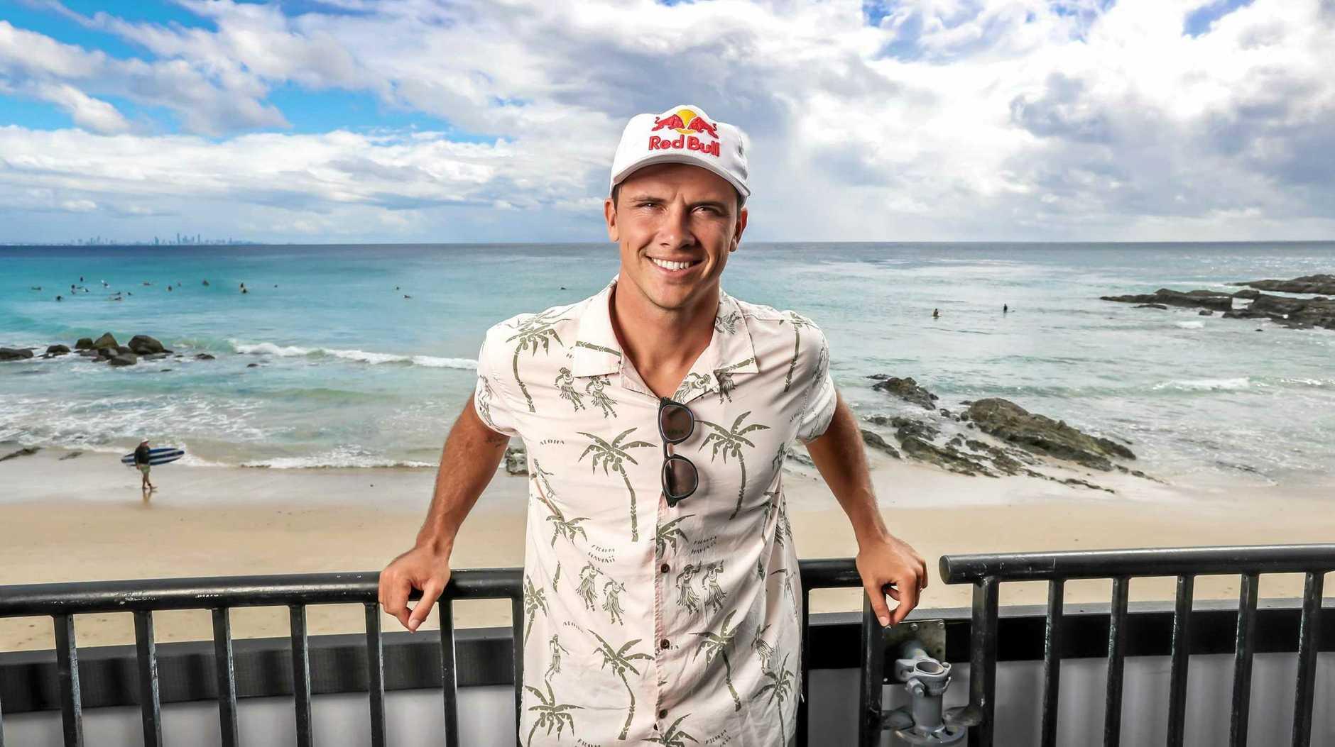 WSL world number 2 surfer Julian Wilson pictured at Snapper Rocks on the Gold Coast.Picture: NIGEL HALLETT