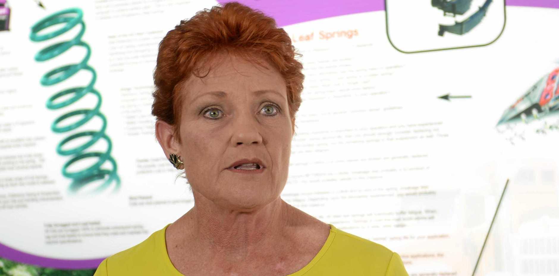 Senator Pauline Hanson in Rockhampton.