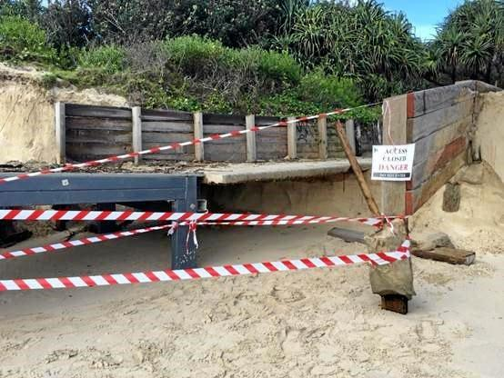 All-abilities beach access ramp at Clarkes Beach Byron Bay