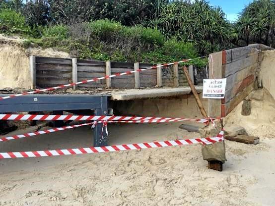 All-abilities beach access ramp at Clarkes Beach Byron Bay