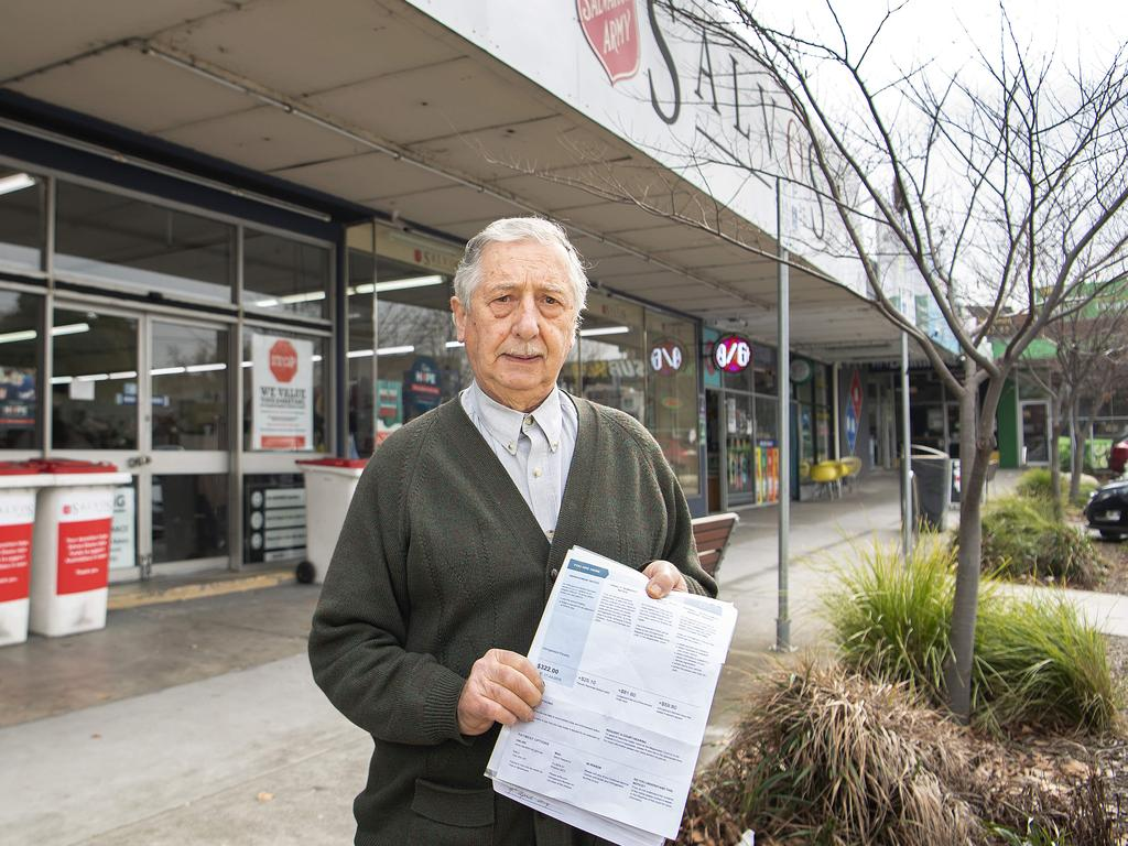 Dan Alessio was fined hundreds of dollars by council when he donated books to the Salvation Army. Picture: Ellen Smith