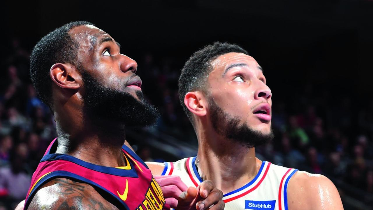 Lebron James and Ben Simmons.