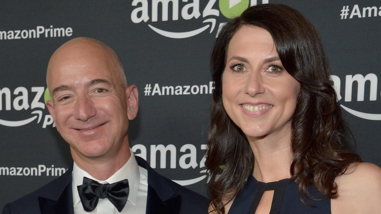 Jeff and MacKenzie Bezos have settled the world's most expensive divorce. Picture: Charley Gallay/Getty Images for Amazon Studios