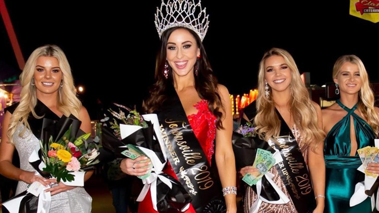 Winners of Miss Townsville 2019 Charlotte Cushing (first place), Kim Hartnett (second), Rachel Rogers (third) and Clare Nixon (Miss Social Media).